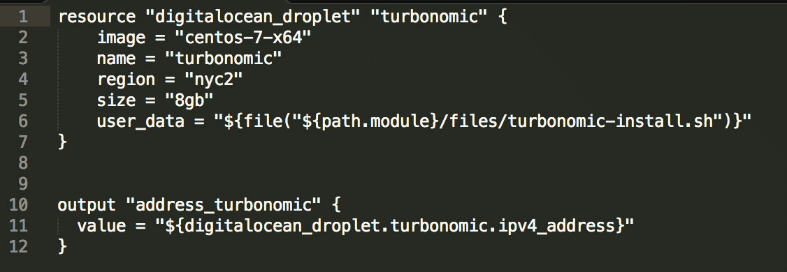 Deploying a Turbonomic Instance on DigitalOcean using